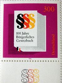 Briefmarke - 100 Jahre BGB